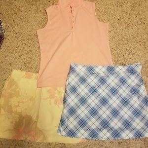 Skorts/ matching shirts